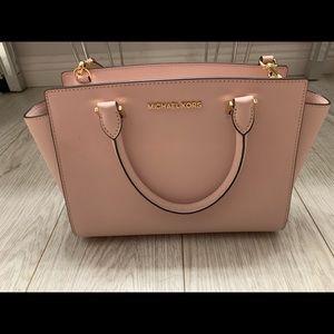 Michael Kors leather medium satchel
